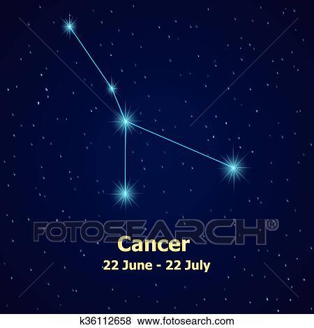 Clip Art Of Symbol Cancer Zodiac Sign K36112658 Search Clipart