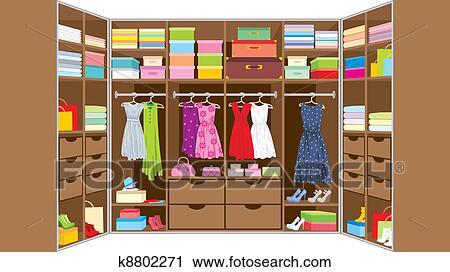 الخزانة Room الأثاث Clipart K8802271 Fotosearch