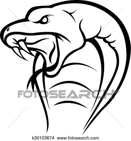 clipart of cobra snake head k30103674 search clip art rh fotosearch com free cobra clip art cobra clip art images