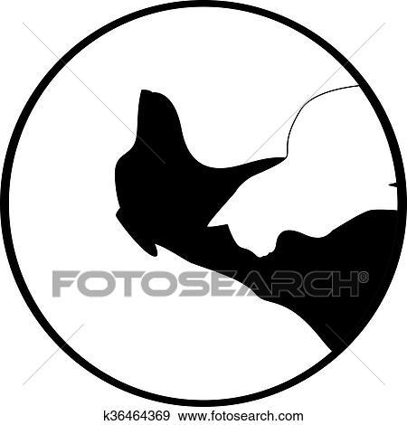 Composizione Di Cane E Gatto Silhouette Clip Art K36464369