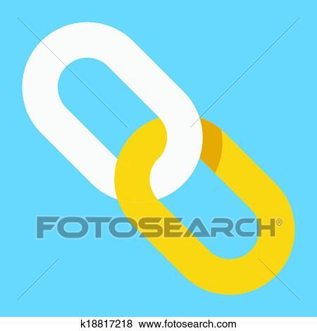 Clip Art - vektor, verbindung, symbol k18817218 - Suche Clipart ...