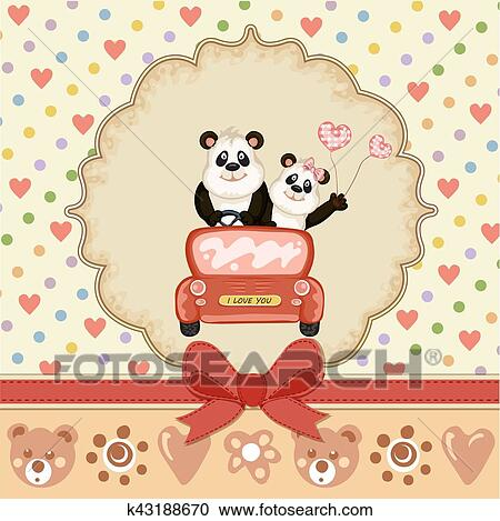 Vintage Valentines day card Clipart