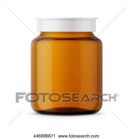 clipart of amber glass medicine bottle template k46996671 search