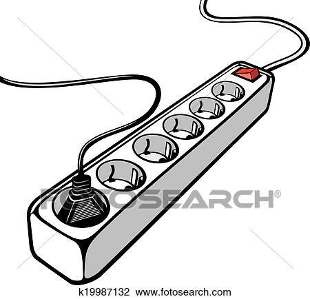 Clipart - elektrisch, verlängerung schnur k19987132 - Suche Clip Art ...
