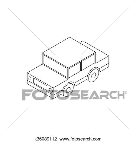 Clip Art Of Toy Car Icon Isometric 3d Style K36089112 Search