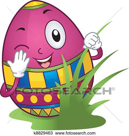 clipart of easter egg hunt k8829463 search clip art illustration rh fotosearch com easter egg hunt clipart free easter egg hunt clipart images