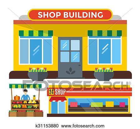 Clipart frutta e verdura negozio bancarella for Clipart frutta