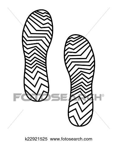 Clipart Of Imprint Soles Shoes