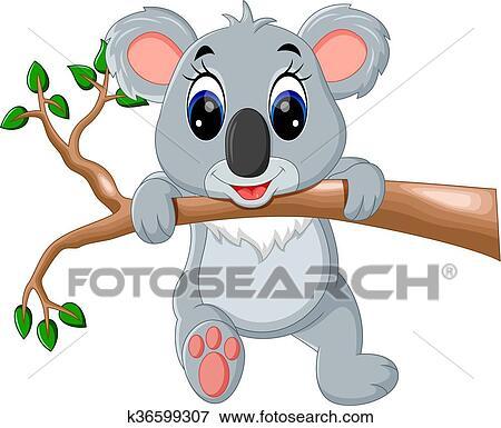 Mignon Koala Dessin Anime Clipart K36599307 Fotosearch