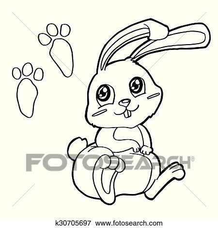 Bear with paw print Coloring Pages Royalty Free Vector Image | 470x450