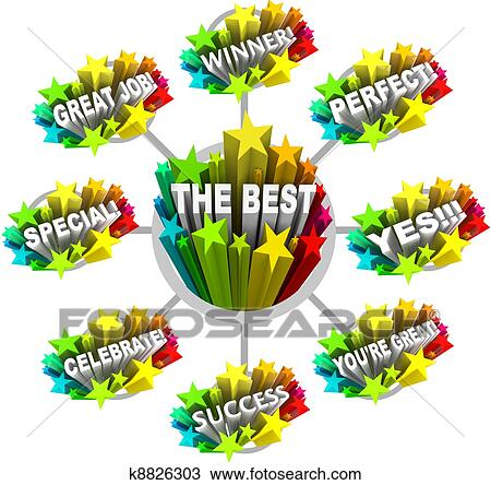 stock photo of praise and appreciation words for a great job rh fotosearch com great job clipart black and white great job clipart black and white