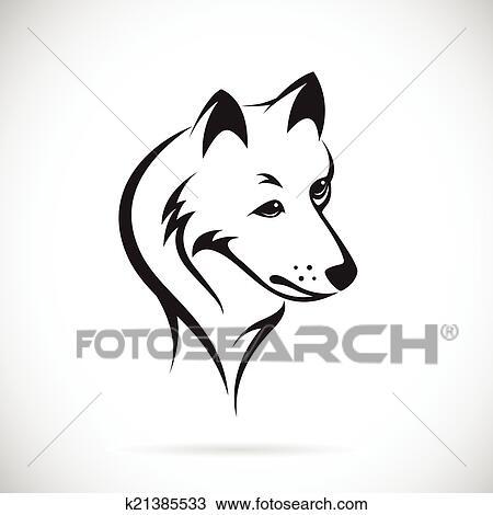 Vecteur images de t te loup clipart k21385533 - Tete de loup dessin ...