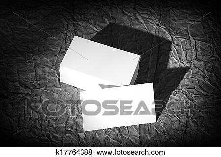 Blanks Bianco Cartelle Su Uno Sfondo Nero Disegno Carta