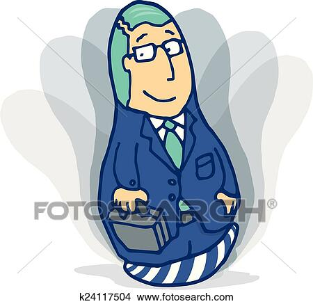 Clipart Bounce Back Toy Or Punching Bag Of Resilient Businessman Fotosearch Search Clip