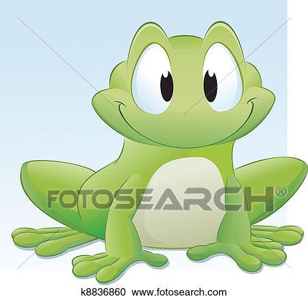 Clipart Of Cartoon Frog K8836860 Search Clip Art Illustration