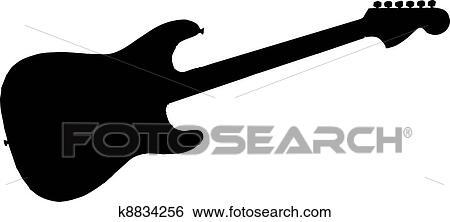 stock illustration of electric guitar silhouette k8834256 search rh fotosearch com  electric guitar silhouette clip art