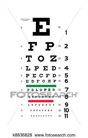 Pictures Of Eye Test Chart K8836828 Search Stock Photos Images