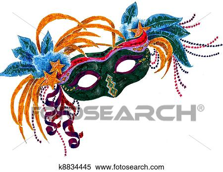 Stock Illustration Fasching Orleans Maske K8834445 Suche