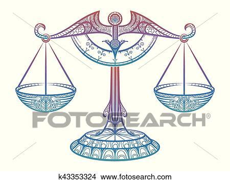Clipart Giustizia Scale Zodiaco Bilancia Zentangle Segno