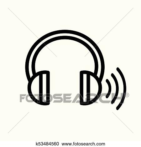 Clipart Of Headphones For Ear Screening Test