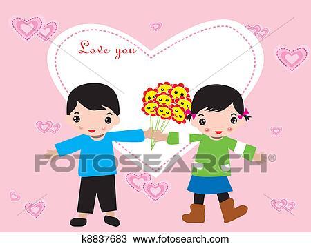 Clipart Hochzeit Oder Valentine Tag Rahmen K8837683 Suche
