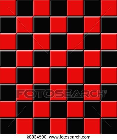 معرض الأشكال Retro قرميدات السيراميك أسود و أحمر K8834500 ابحث