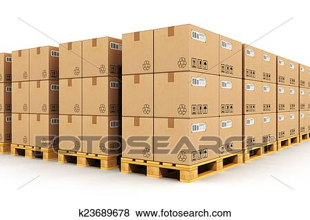 pictures of warehouse with cardbaord boxes on shipping pallets rh fotosearch com warehouse boxes uk warehouse boxes collapse