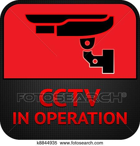 Clipart Of Cctv Pictogram Symbol Security Camera K8844935 Search
