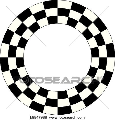 clip art of checkerboard frame spiral pattern k8847988 search rh fotosearch com checkerboard pattern clipart checkerboard pattern clipart