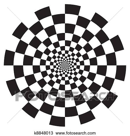 clipart of checkerboard spiral design pattern k8848013 search clip rh fotosearch com  checkerboard pattern clipart