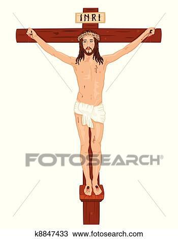 Crucifixon, -, jesus-christ kreuz Clipart