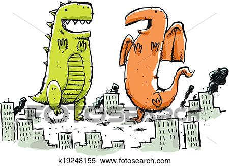 clipart of giant monster dance k19248155 search clip art