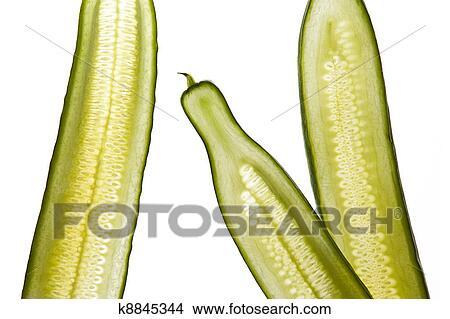 Arkivfoto Grønn Salat Agurk Strimler K8845344 Søk Arkivbilder