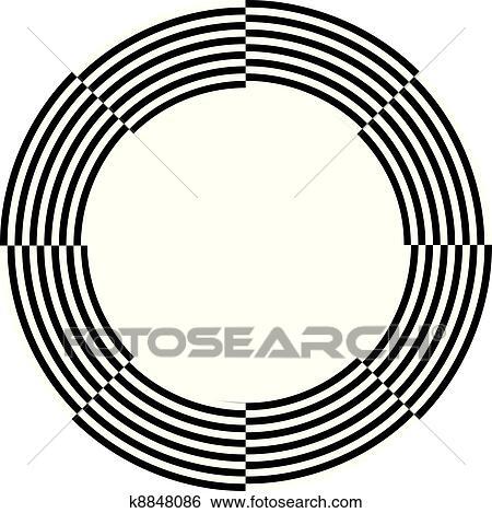 Clip Art Of Spiral Design Illusion Frame K8848086