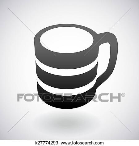 clipart vetorial xícara café logo desenho modelo k27774293