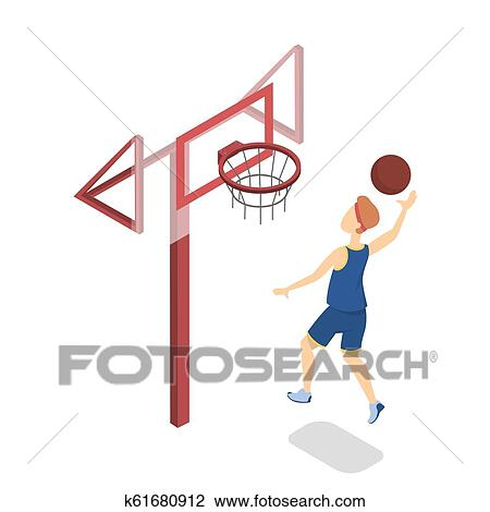 Kids Playing Basketball Clip Art - Royalty Free - GoGraph