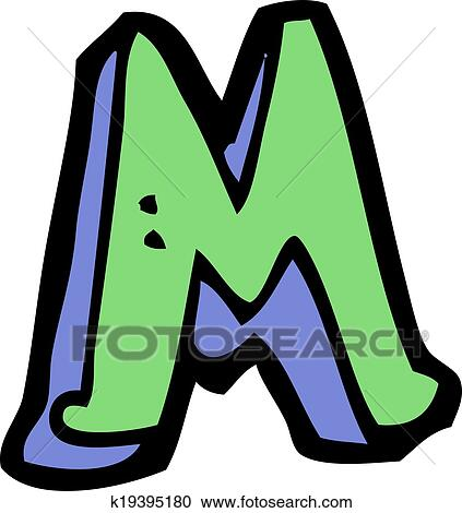 clipart of cartoon letter m k19395180 search clip art rh fotosearch com letter m clip art monogram images letter m clipart black and white