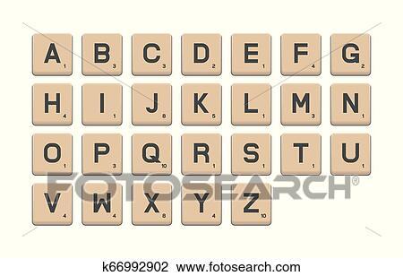 Tile Alphabet For Puzzle Word Clipart