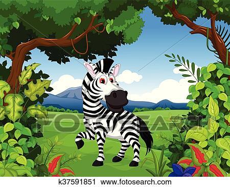 Testa eps del personaggio dei cartoni animati della zebra