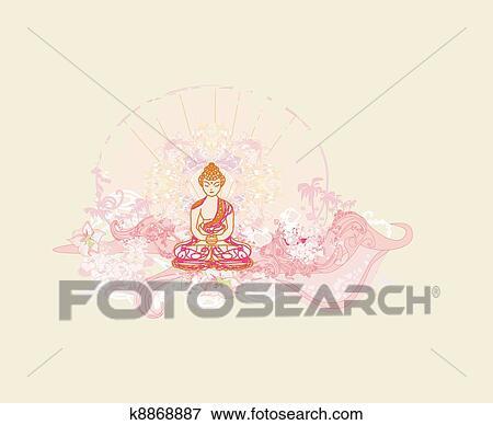 伝統的である 芸術的 仏教 イラスト K8868887 Fotosearch