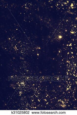 Abstract Glitter Christmas Background Golden Lights Flash