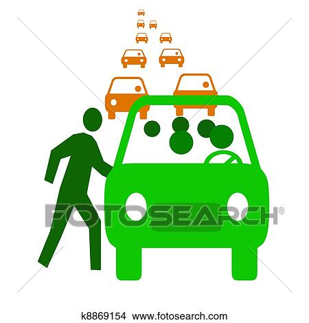 drawings of carpool economy k8869154 search clip art illustrations rh fotosearch com carpool clip art free