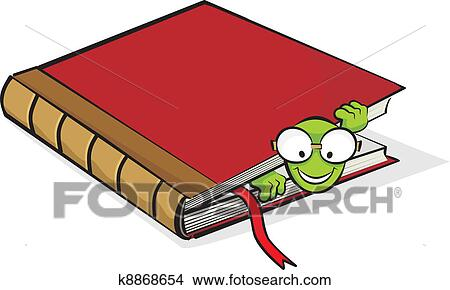 Rat Bibliotheque Et Livre Clipart