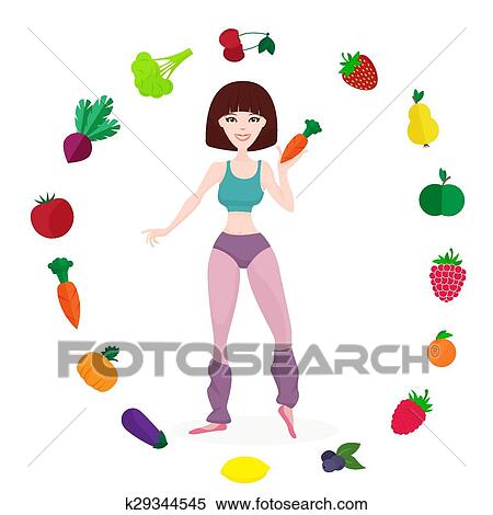 athletic girl clipart