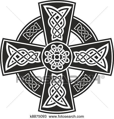 Clipart Of Celtic Cross K8875093 Search Clip Art Illustration