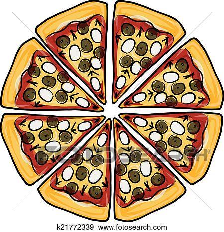 Clip Art Pezzi Di Pizza Schizzo Per Tuo Disegno K21772339