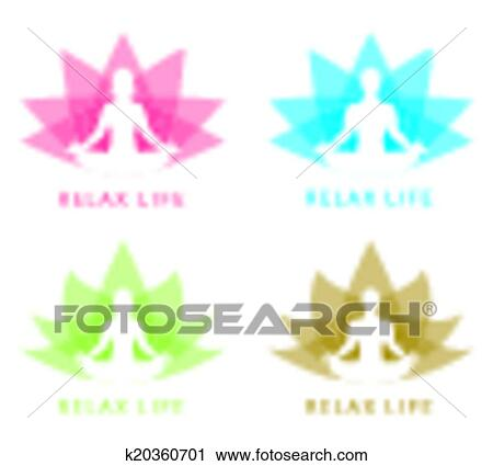 Clipart Of Relax Symbol K20360701 Search Clip Art Illustration