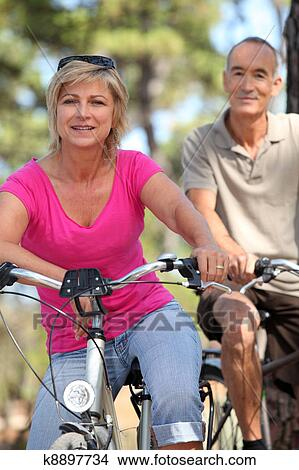 old man & woman