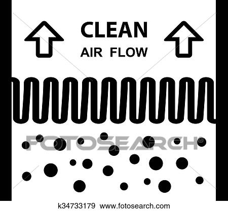 Clip Art Of Air Filter Effect Symbol K34733179 Search Clipart