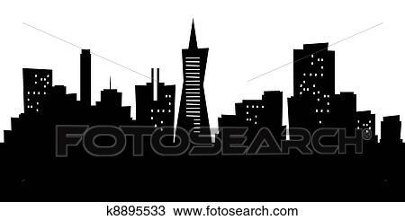 drawing of cartoon san francisco k8895533 search clipart